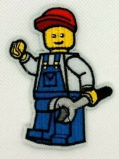 Lego mechanic Robot boy Wrenches Technology Embroidered sew Iron On Patch 366