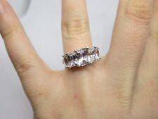 Modern Designer Dqcz Diamonique Cubic Zirconia Sterling Silver 925 Ring Sz 8.5