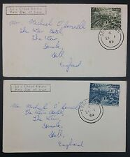 Ireland 1969 Inauguration of the First Dail Set on 2 x Plain FDCs
