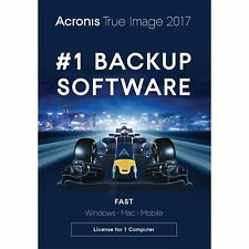 Acronis True Image 2017 1 Computer Backup For PC MAC Mobile - New In Retail Box