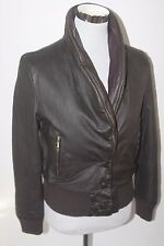 Womens Kenneth Cole New York Large 100% Genuine Leather Reversible Jacket Coat
