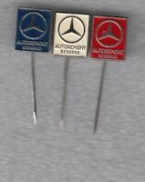 3 pins pin badge car auto MERCEDES BENZ SERVICE AUTOREMONT Belgrade YUGOSLAVIA