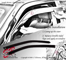 Tape-On Rain Guard Window Visor Light Grey 2pc For 1996-2007 Dodge Grand Caravan