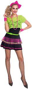 Neon Pop Diva Fancy Dress Costume 1980's Disco Queen Ladies UK Sizes 10-12