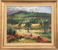 """Impressionist Erik Jönsson 1893-1950"""" Summer Landscape with People """""""