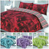Duvet Cover with Pillow Case Quilt Cover Bedding Set Single Double King Floral