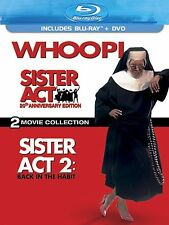 SISTER ACT 1 / SISTER ACT 2 :BACK IN THE HABIT  -  Blu Ray - Sealed Region free