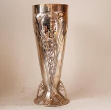 Antique Art Nouveau/Jugendsti Silver Plate Vase WMF Swiss Bicycle Trophey c.1916