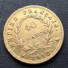 More details for france 1812 a  40 franc gold coin. 0.900 fine gold. paris mintmark. uk sale only