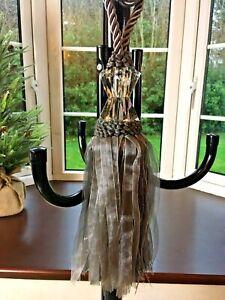 1 LUNA Luxury Glass head Jewel Grey Curtain/Drapery Tassel tie back NEW + tags