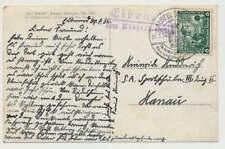 Landpoststempel ELBENROD über ALSFLED (HESSEN) Postkarte 30.7.34 (34733)