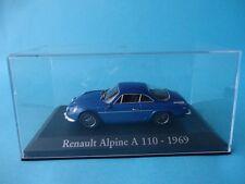 ALPINE A110 RENAULT - AZUL / BLUE - TAPA DE METACRILATO - 1/43 NUEVO NEW IXO RBA