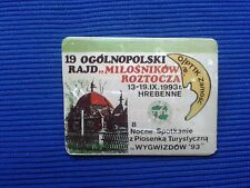 19 Ogulnopolski rajd milosnikow Roztocza 1993 Hrebenne