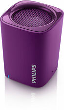 Philips Bluetooth Portable Speaker Purple Wireless Rechargeable BT100V/27 NEW