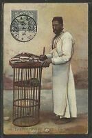 Colonie 1910 Eritrea Sassone 34 isolato Cartolina da Massaua Firmata - COL009
