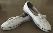 """NEW SOULCAL&CO White Lace Canvas """"Shore"""" Lace Up Casual Sneakers Size 6/39.5"""