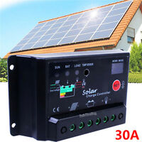 30A AMP PWM PV Solar Charge Controller W/ CE 12Volt Solar Panel Battery RV Boat