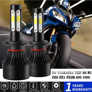 For YAMAHA YZF R6 R1 FZ6 FZ1 FZ2R 600 1000 2Pcs H7 LED Headlight High Power Kit