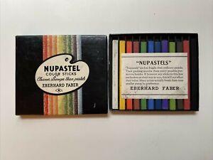 VINTAGE NOS NUPASTEL COLOR STICKS EBERHARD FABER  BOX OF 12 Unused!
