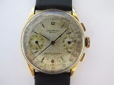 UNIVERSAL GENEVE MEDICO COMPAX CHRONOGRAPH 18K PINK GOLD WITH ORIGINAL DIAL !!