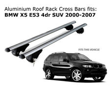 Aluminium Roof Rack Cross Bars fits BMW X5 E53 11/2000 to 02/2007