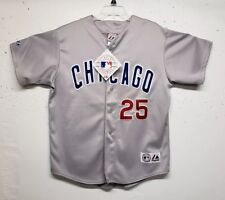 NWT Chicago Cubs Jersey Majestic Genuine Merchandise Away #25 Derrick Lee Sewn