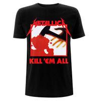 Metallica T Shirt Kill Em All Tracks Official Licensed Black Mens Metal Rock NEW