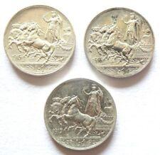 Vittorio Emanuele III - 1 Lira quadriga briosa 1915-1916-1917 - Argento