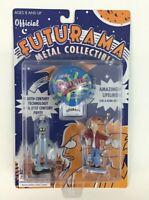 Futurama Metal Collectible Figures Fry  Bender Rocket USA Vintage 2000 Sealed