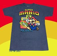 New Nintendo Men's Super Mario Bros Adventures Bowser Vintage Classic T-Shirt