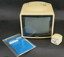 Vintage Quasar Tp2156Bu Tv With Tv Shaped Remote Working