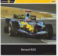 Renault R25 Formula 1 Promo Card 2005 F1.