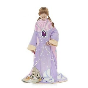Disney Princess Sofia the First Girl Comfy Snuggy Wearable Throw Sleeves Blanket