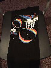 Teefury Men's SMALL Black T-Shirt Infinite Magic Unicorns *FIXED PRICE*