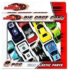 8pcs Die Cast Cars Plastic Parts Racing Toy Fun Play Boys Vehicle Set Kids Gift