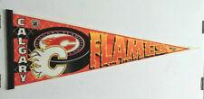 Vintage NHL Calgary Flames Felt Pennant by WinCraft Edition #1, Rare, Unique NHL