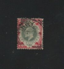 ROYAUME UNI .N°117  OBLITERE.1 s ROUGE..1902.. COTE 30  €. PRIX: 3,45 €