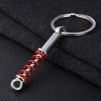 1x Mini Auto Car Shock Absorber Creative New Metal Car Keychain Keyring Key Fob