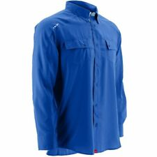 Huk Men's Next Level Royal Blue Large Button up Long Sleeve Shirt