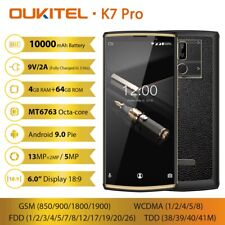 OUKITEL K7 Pro 10000mAh 4G Handy 6,0 Zoll Android 9.0 Octa Core 4GB 64GB Face ID