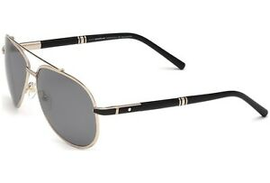 $1300 POLARIZED Genuine MONT BLANC GOLD PLATED Aviator Sunglasses MB 526/S 33D