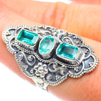 Large Zambian Emerald 925 Sterling Silver Ring Size 8 Ana Co Jewelry R54179
