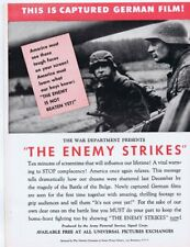 The Enemy Strikes WWII 1945 ORIGINAL Vintage 9x12 Industry Ad