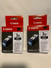 Canon 3e Black Ink Tank Cartridge ***Lot Of 2***