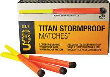 "UCO Titan Stormproof Matches ORMD Knife MT-TSM1 4"" overall. Long burning, windpr"