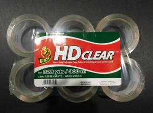 Duck HD 6 Rolls Clear Heavy Duty Packing Tape Refill ,1.88 Inch x 54.6 Yard .