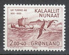 Greenland 1982 Mi 137 Sc B10 MNH Viking's King Eric the Red sailing & Sea-gull