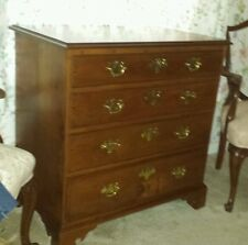 "18th Century American Chest of Drawers Cherry Wood. 32 1/2"" T"