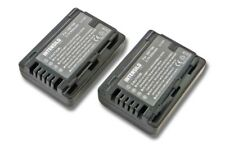 2x BATERIA INTENSILO 850mAh para Panasonic HC-V110, HC-V110GK, VW-VBY100