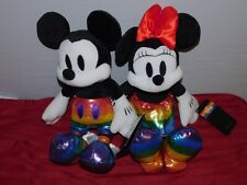 2021 Disney Parks Loungefly Rainbow Collection Pride Mickey Minnie Mouse Plush